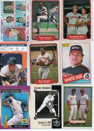 (9) Tom Seaver Baseball Cards