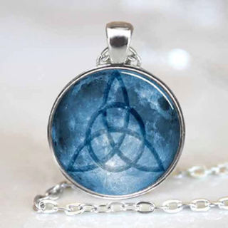 ~CELTIC KNOT NECKLACE~GLASS DOME CABOCHON STYLE~BONUS EARRINGS~ ALL NEW~ GIFT WRAPPED!~