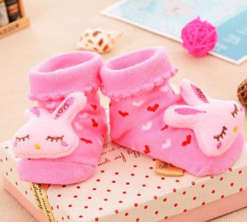 Anti-slip Socks Cartoon Newborn Baby Girl Boy Slipper Shoes Boots 0-12 Months