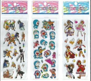 NEW JAPANESE Anime Manga Puffy Stickers Vibrant Detailed Variety FREE SHIPPING