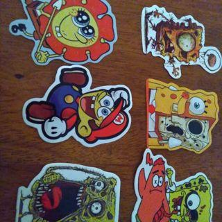Spongebob vinyl sticker lot