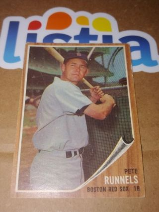 PETE RUNNELS⭐BOSTON RED SOX⭐1962 TOPPS⭐ EXCELLENT VINTAGE⭐FREE $HIPPING