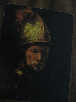 """""""MAN WITH GOLDEN HELMET"""" by REMBRANDT, NO.247, 16 X 20 INCHES"""