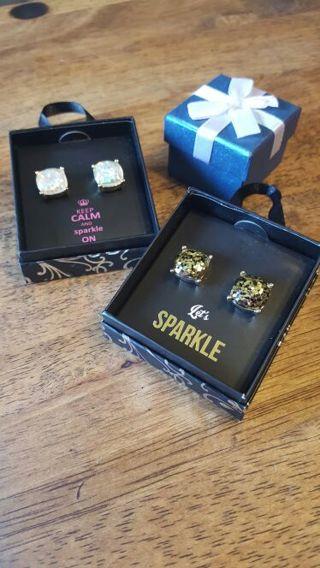 Large Glitter Earrings in Gift Box - WINNER PICKS Color & Gift Box (***Last auction w GIN BONUS***)