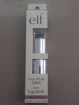 e.l.f. Beautifully Bare Satin Lipstick in Touch of Nude BNIP