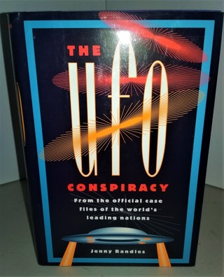 """1993 """"The UFO Conspiracy"""" by Jenny  - hardcover - 224 pages - 12 pages of photos"""