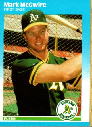 1987 Fleer Update Mark Mcgwire Glossy