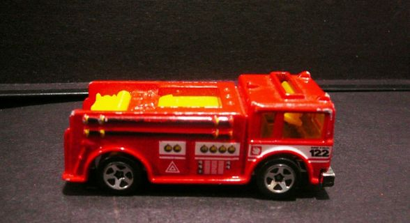 Vintage 1976 Mattel Hot Wheels Fire Red Fire Truck