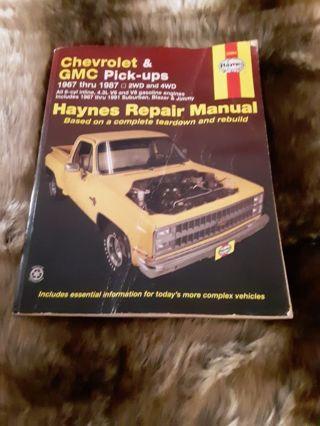 Chevrolet & GMC pick up truck repair manual