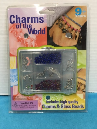 L518 CHARMS OF THE WORLD KIDS JEWELRY BRACELET MAKING KIT 9+