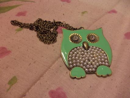 owl necklace(please reaad description)