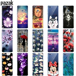 silicone case for huawei P smart 2018 Enjoy 7S case soft tpu back phone cover 360 full protective