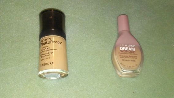Revlon and maybelline foundations.