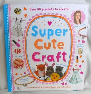 Super Cute Craft BOOK Geared for Girls in Spiral Bound Binder