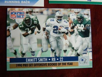 Free 3 1990 1991 Emmitt Smith Football Cards Pro Set