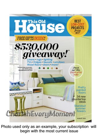 This Old House One Year Magazine Subscription Print Edition