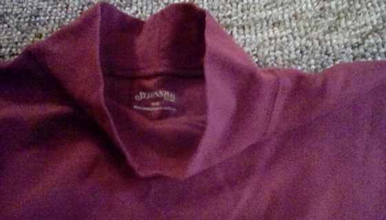 Burgendy Mock Turtleneck Shirt Size 18 Woman