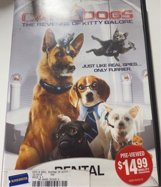 Cats & Dogs The Revenge of Kitty Galore Used DVD