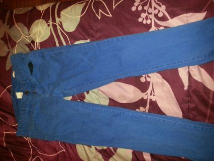 Blue skinny jeans size 1