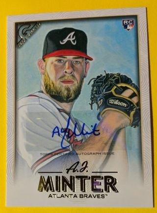 A.J. MINTER ROOKIE CARDS (ONE SIGNED)
