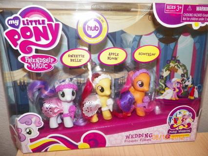 Free my little pony wedding flower fillies 3 pack sweetie belle free my little pony wedding flower fillies 3 pack sweetie belle apple bloom scootaloo mightylinksfo