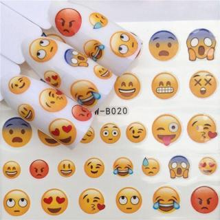 2 Sheets 3D Nail Art DIY Transfer Sticker Emoji Decals Manicure Decoration Tips