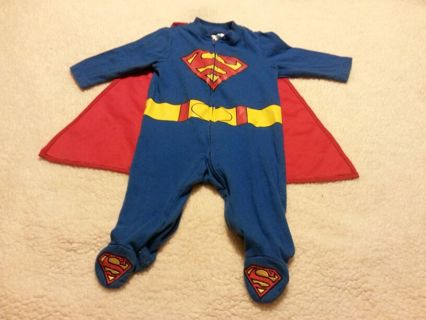 Free 3 6m Baby Boys Superman Pajamas With Cape Sleeper 3m 6m Free Shipping Baby Clothes Listia Com Auctions For Free Stuff