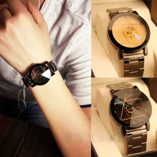 Fashion Luxury Men/Women Watch Compass Stainless Steel Quartz Analog Wrist Watch