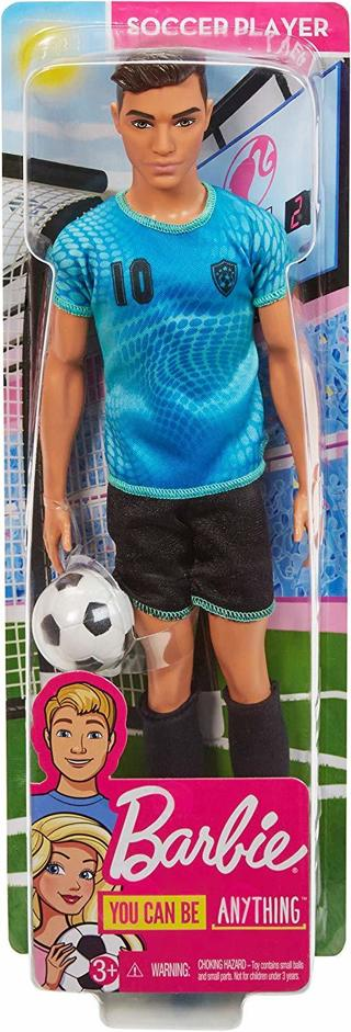 NEW Barbie Careers Ken Soccer Player Doll FREE SHIPPING