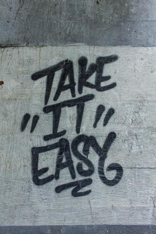 Take it Easy Art Print  5x7