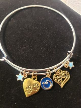 Charm Braclet Expandable ♡♡ Puppy Love ♡♡ LOVE YOU TO THE MOON AND BACK
