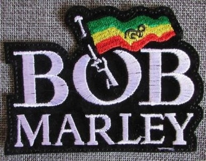 BOB MARLEY Reggae Patch IRON ON Patch Music Band Clothing accessory Embroidery Applique Decoration