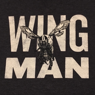 MEN'S Wing Man Shirt V Neck Tee Funny novelty tops