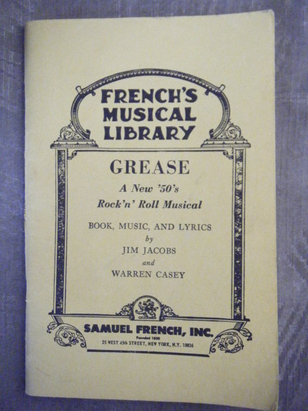 """Free: """"Grease""""--script for stage play - Other Books ..."""