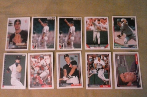 10 card boston red sox lot rookie insert