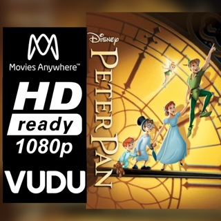 PETER PAN HD MOVIES ANYWHERE OR VUDU CODE ONLY