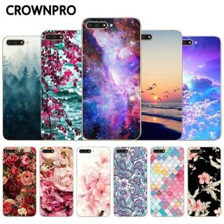 "CROWNPRO 5.7"" Huawei Y6 2018 Case Silicone Huawei Y6 PRIME 2018 Cute Fundas TPU Protective Cover Y"