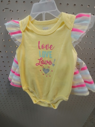 NWT! DDG-DARLINGS - Baby Girls 2 pc Set w/Skirt Size: 6-9mths 60% COTTON 40% polyester