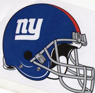 2017 NFL 4x3 Team Helmet Sticker: New York Giants