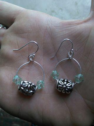 Handmade Earrings stamped 925 W/GIN Bonus