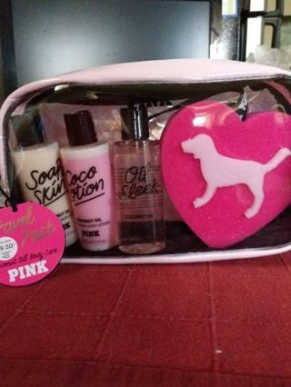 Victoria's Secret pink Coco lotion travel pack