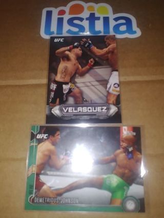CAIN VELASQUEZ/ MIGHTY MOUSE JOHNSON ⭐#209/219 & EMERALD #076/288!!⭐2012 & '15⭐FREE $HIPPING