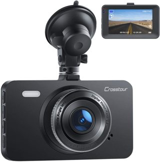 """Dash Cam, Crosstour 1080P Car Cam Full HD with 3"""" LCD Screen 170°Wide Angle, WDR, G-Sensor"""