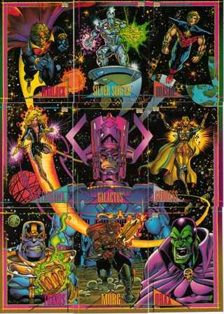 1993 Marvel 9 Card Lot Silver Surfer ETC...