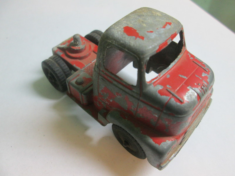 Free: Vintage Toy Metal Tootsie Toy Red Truck Marked