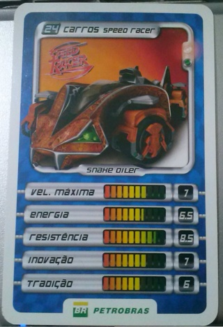 Speed Racer game card (#24)