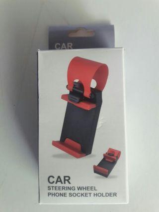 Car Steering Wheel Socket Phone Holder
