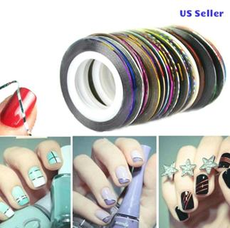 Hot Colors Rolls Striping Tape Line Nail Art Tips Decoration Sticker USA seller