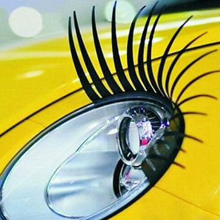 2pcs 3D Charming Black False Eyelashes Fake Eye Lash Sticker Car