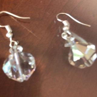 Crystal Earrings .